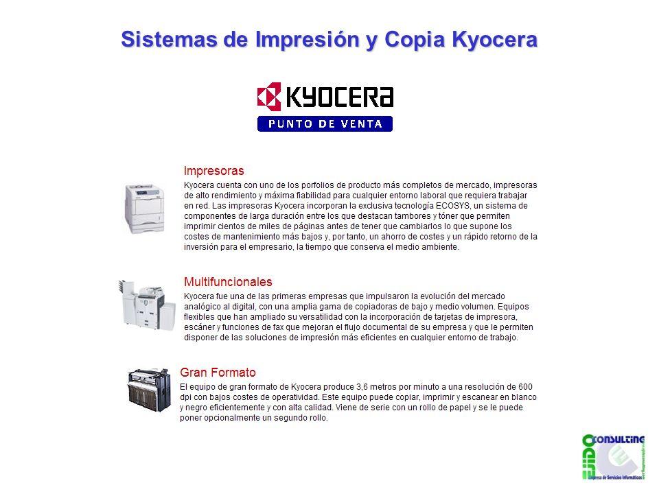 Sistemas de Impresión y Copia Kyocera