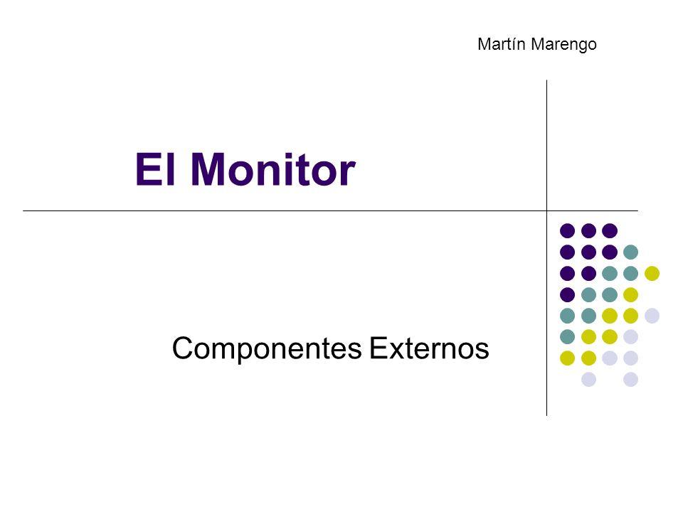 El Monitor Componentes Externos Martín Marengo