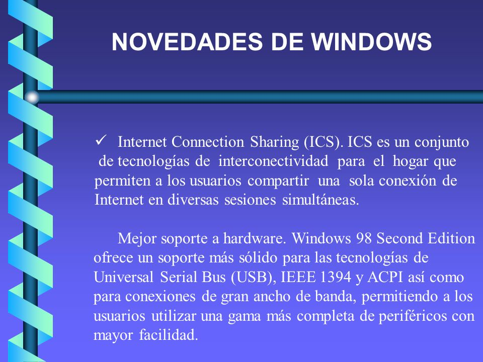Internet Connection Sharing (ICS).