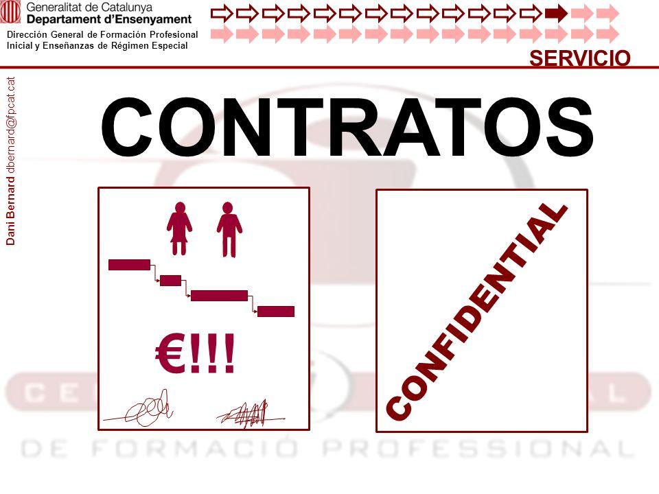 Dirección General de Formación Profesional Inicial y Enseñanzas de Régimen Especial SERVICIO CONTRATOS CONFIDENTIAL !!.