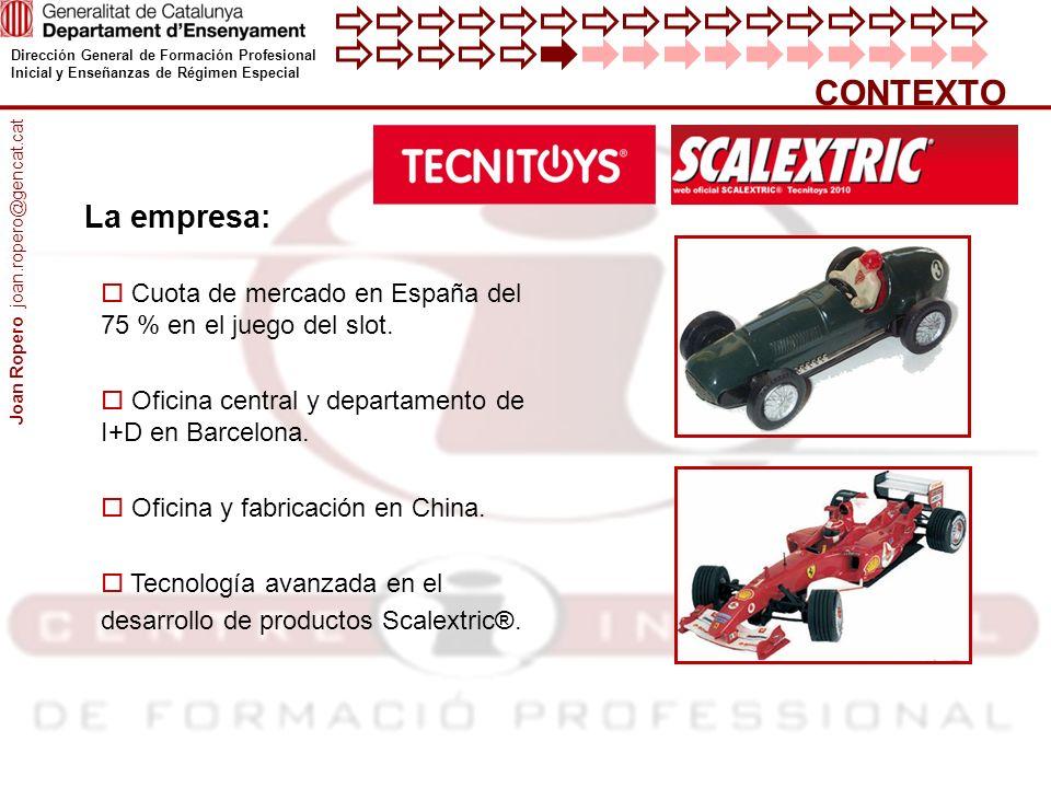 Dirección General de Formación Profesional Inicial y Enseñanzas de Régimen Especial CONTEXTO Cuota de mercado en España del 75 % en el juego del slot.
