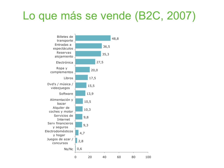 Lo que más se vende (B2C, 2007)