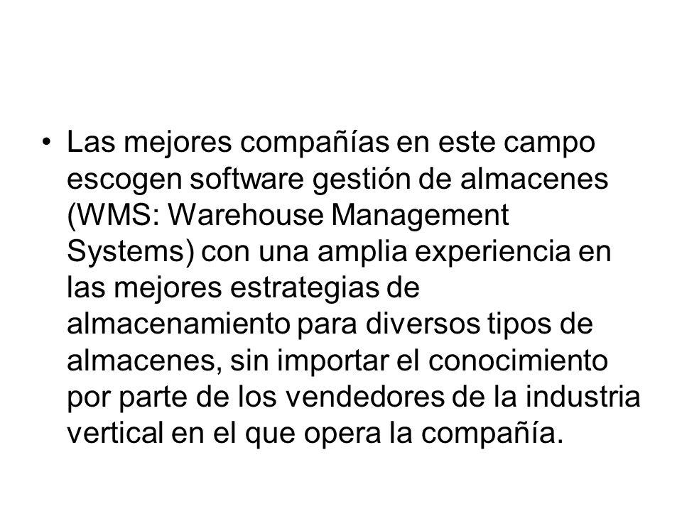Las mejores compañías en este campo escogen software gestión de almacenes (WMS: Warehouse Management Systems) con una amplia experiencia en las mejore