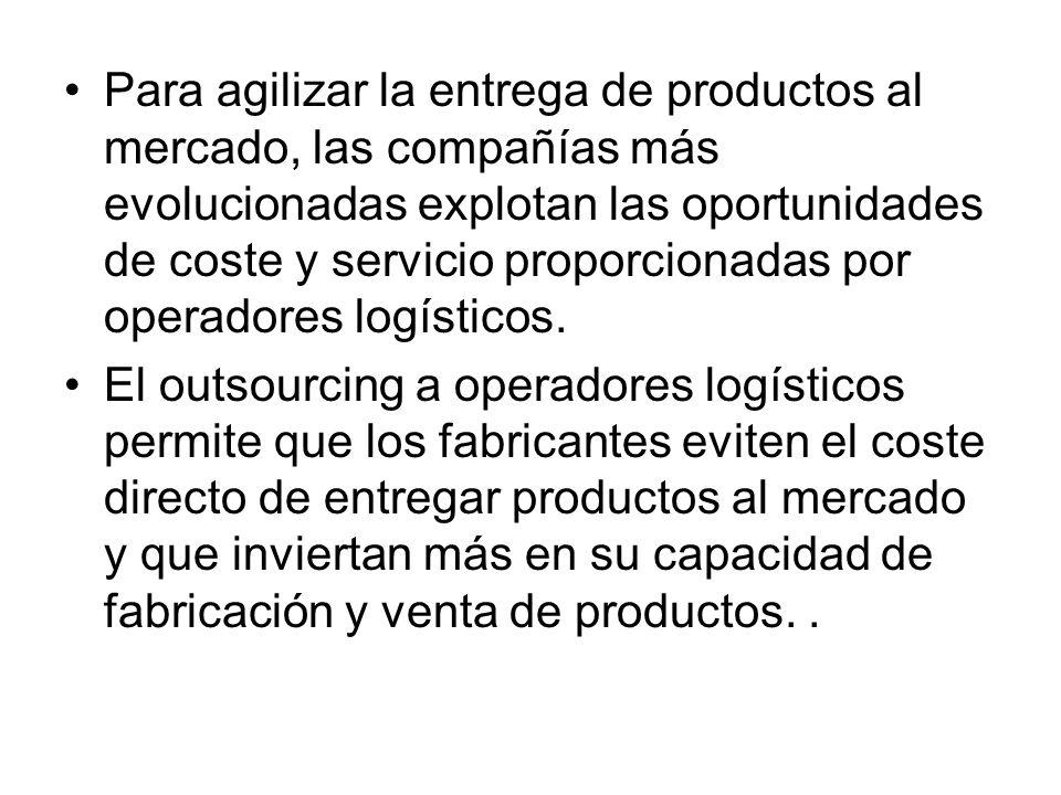 Para agilizar la entrega de productos al mercado, las compañías más evolucionadas explotan las oportunidades de coste y servicio proporcionadas por op
