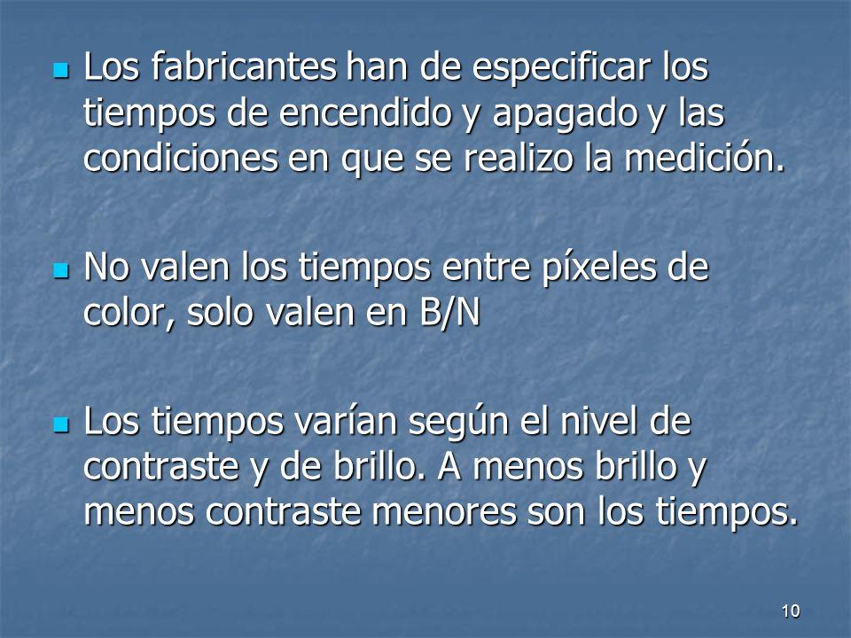 9 EL TIEMPO DE RESPUESTA.