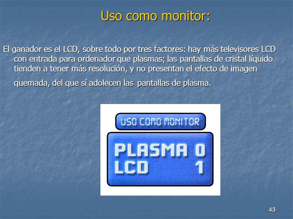 42 Distancia de visionado: Distancia de visionado: Las pantallas TFT suelen tener una mayor resolución nativa que las de plasma.