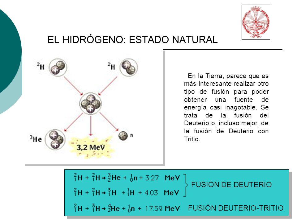FUSIÓN DE DEUTERIO FUSIÓN DEUTERIO-TRITIO En la Tierra, parece que es más interesante realizar otro tipo de fusión para poder obtener una fuente de energía casi inagotable.