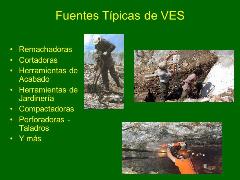 45 Fuentes Típicas de VES Remachadoras Cortadoras Herramientas de Acabado Herramientas de Jardinería Compactadoras Perforadoras - Taladros Y más