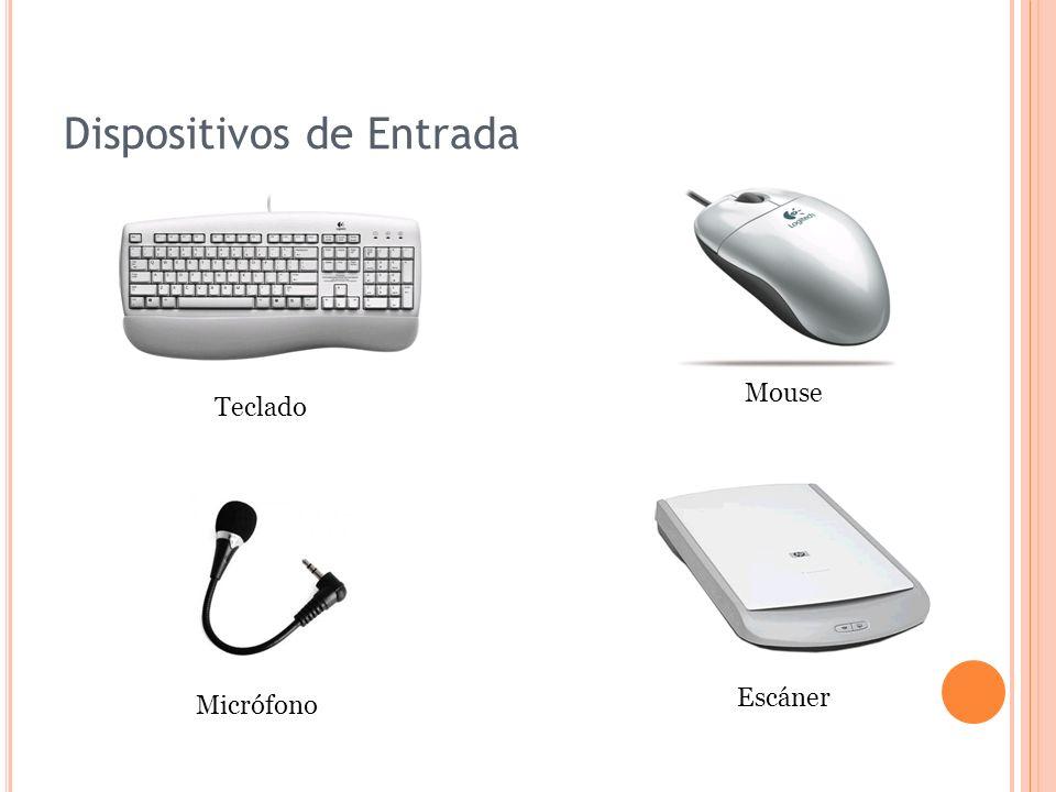 Dispositivos de Entrada Escáner Mouse Micrófono Teclado