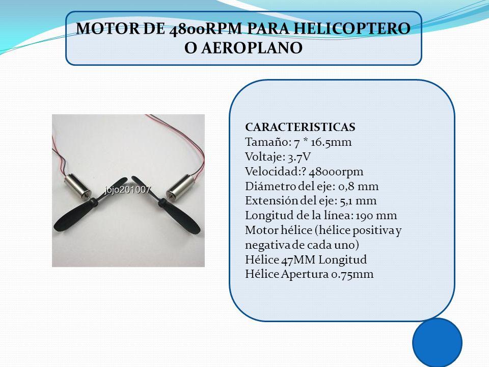 CARACTERISTICAS Tamaño: 7 * 16.5mm Voltaje: 3.7V Velocidad:? 48000rpm Diámetro del eje: 0,8 mm Extensión del eje: 5,1 mm Longitud de la línea: 190 mm