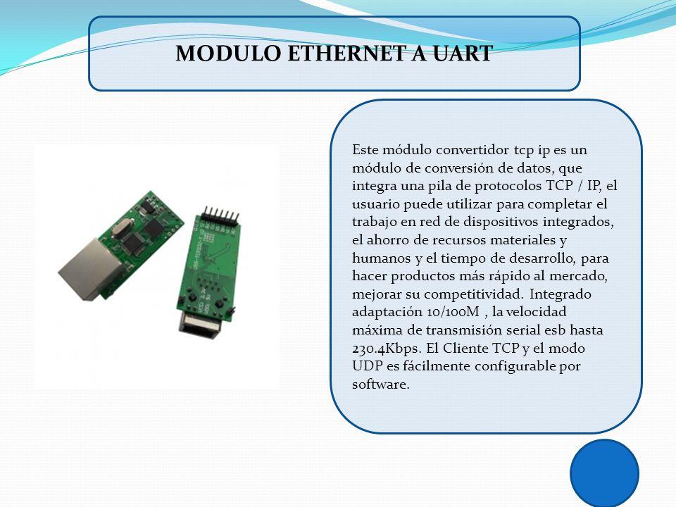 Este módulo convertidor tcp ip es un módulo de conversión de datos, que integra una pila de protocolos TCP / IP, el usuario puede utilizar para comple