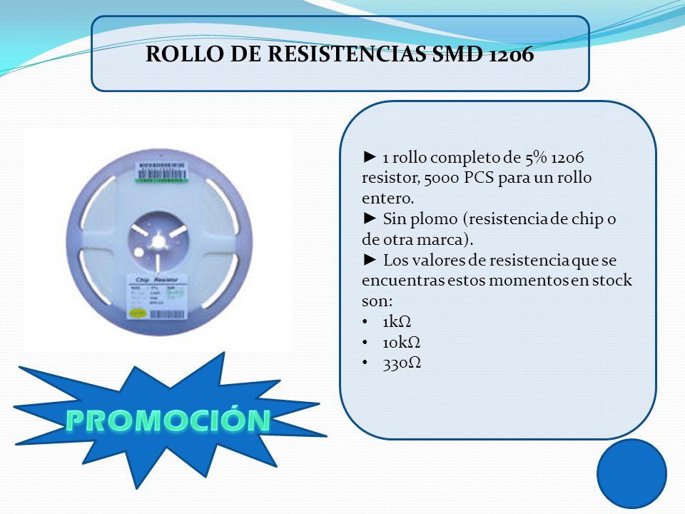 1 rollo completo de 5% 1206 resistor, 5000 PCS para un rollo entero. Sin plomo (resistencia de chip o de otra marca). Los valores de resistencia que s