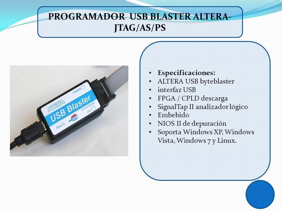 Especificaciones: ALTERA USB byteblaster interfaz USB FPGA / CPLD descarga SignalTap II analizador lógico Embebido NIOS II de depuración Soporta Windo