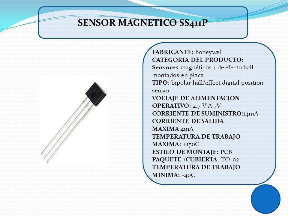 FABRICANTE: honeywell CATEGORIA DEL PRODUCTO: Sensores magnéticos / de efecto hall montados en placa TIPO: bipolar hall/effect digital position sensor