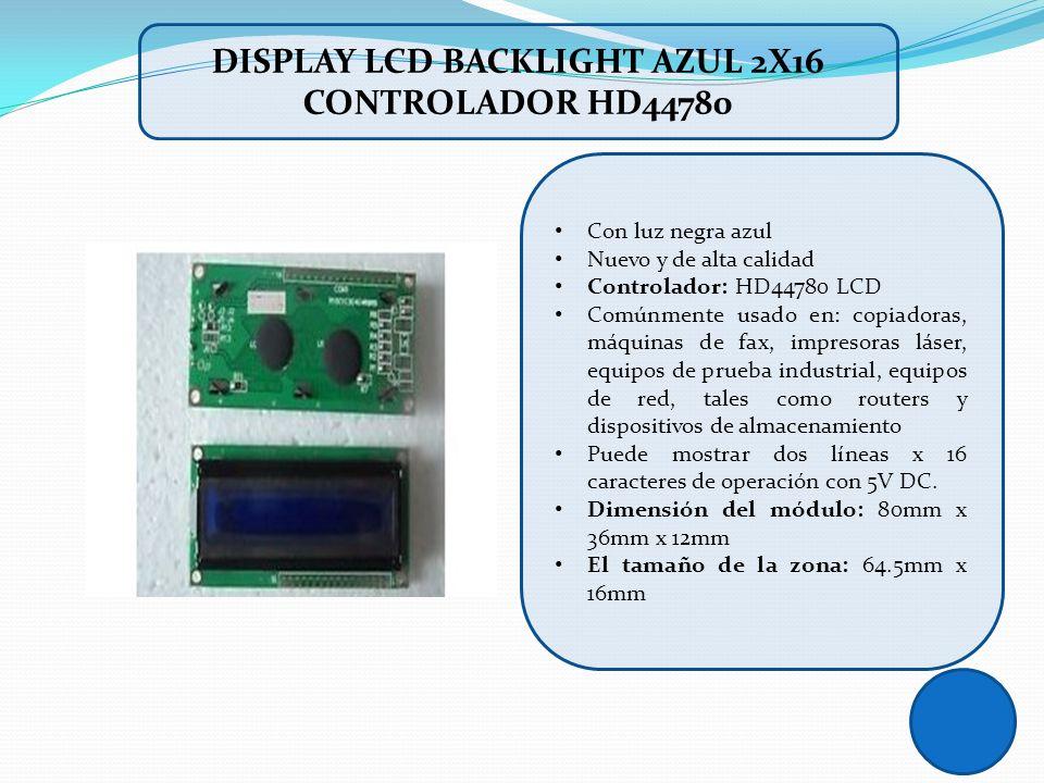 Con luz negra azul Nuevo y de alta calidad Controlador: HD44780 LCD Comúnmente usado en: copiadoras, máquinas de fax, impresoras láser, equipos de pru