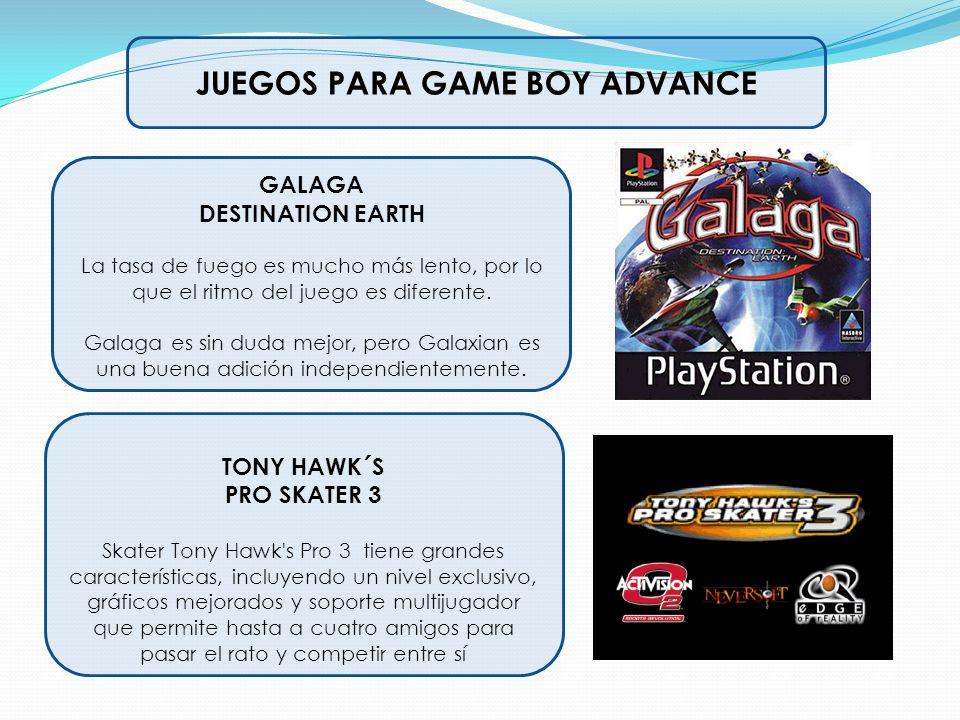 JUEGOS PARA GAME BOY ADVANCE GALAGA DESTINATION EARTH La tasa de fuego es mucho más lento, por lo que el ritmo del juego es diferente. Galaga es sin d