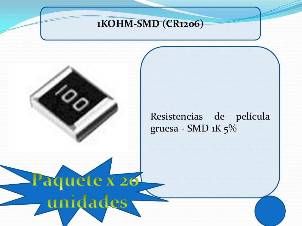 Resistencias de película gruesa - SMD 1K 5% 1KOHM-SMD (CR1206)