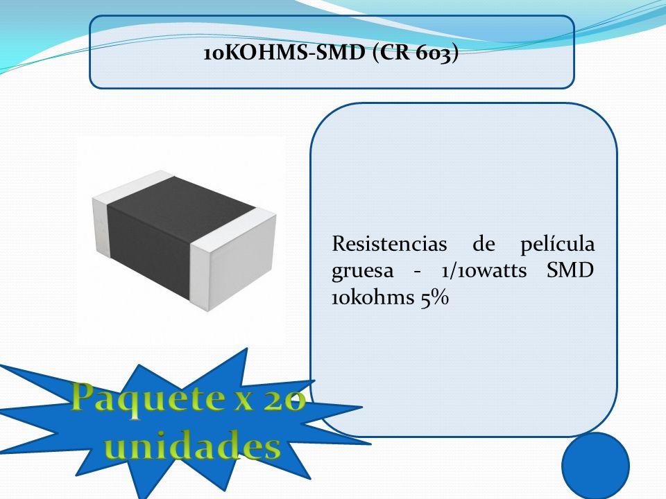 Resistencias de película gruesa - 1/10watts SMD 10kohms 5% 10KOHMS-SMD (CR 603)