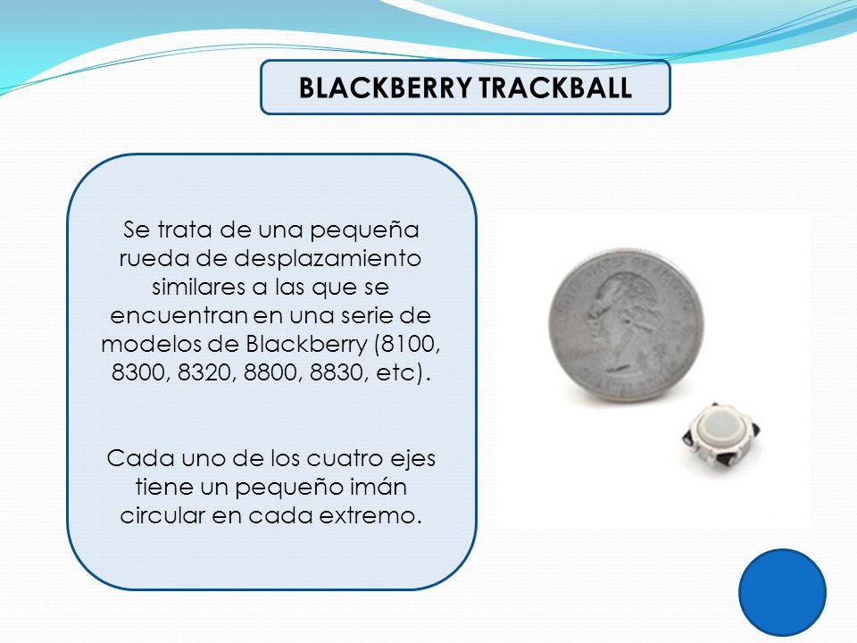 BLACKBERRY TRACKBALL Se trata de una pequeña rueda de desplazamiento similares a las que se encuentran en una serie de modelos de Blackberry (8100, 83