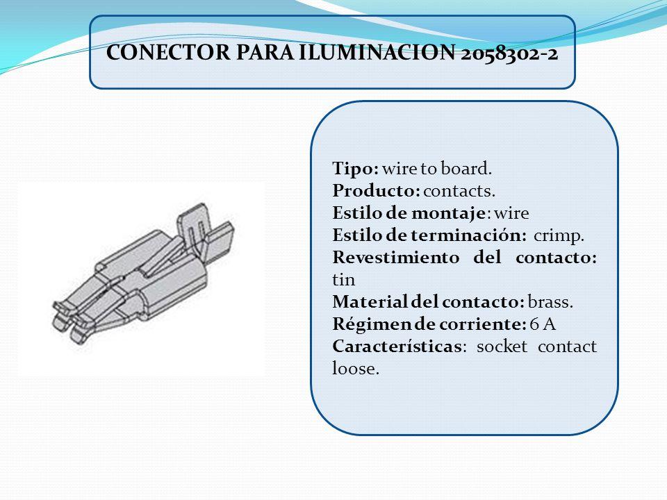 Tipo: wire to board. Producto: contacts. Estilo de montaje: wire Estilo de terminación: crimp. Revestimiento del contacto: tin Material del contacto: