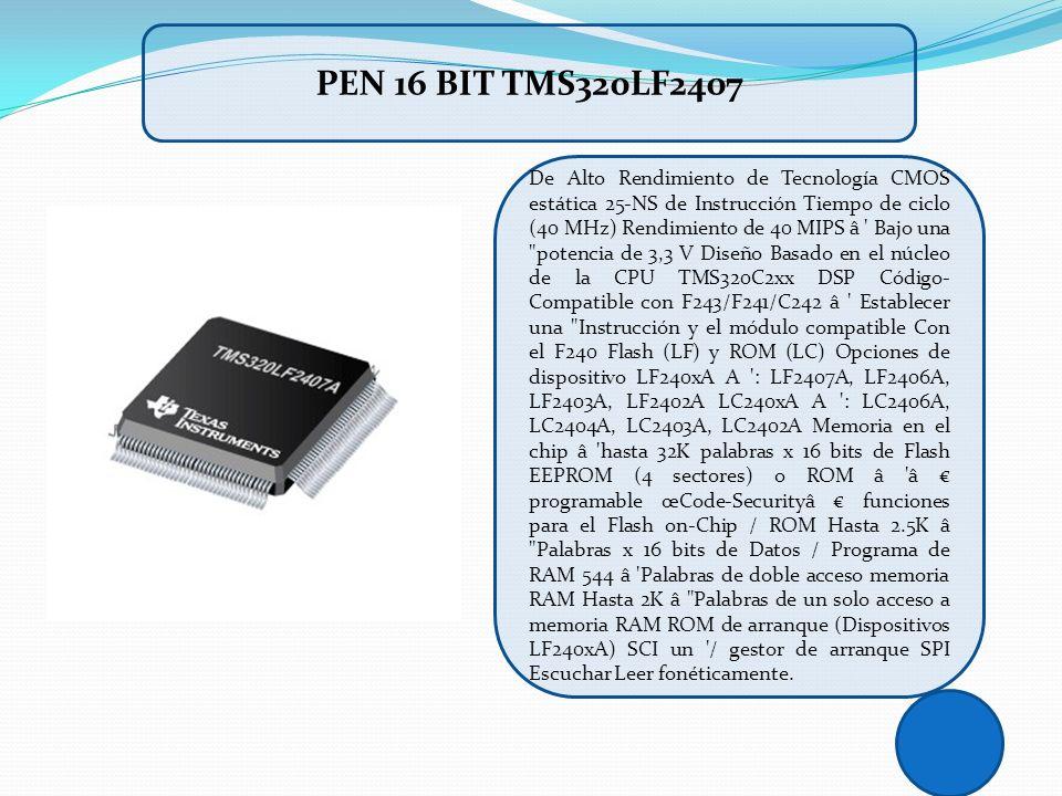 De Alto Rendimiento de Tecnología CMOS estática 25-NS de Instrucción Tiempo de ciclo (40 MHz) Rendimiento de 40 MIPS â ' Bajo una