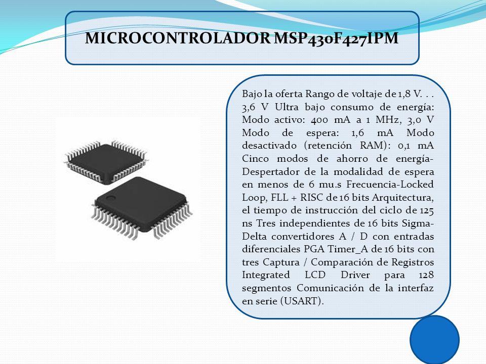 Bajo la oferta Rango de voltaje de 1,8 V... 3,6 V Ultra bajo consumo de energía: Modo activo: 400 mA a 1 MHz, 3,0 V Modo de espera: 1,6 mA Modo desact