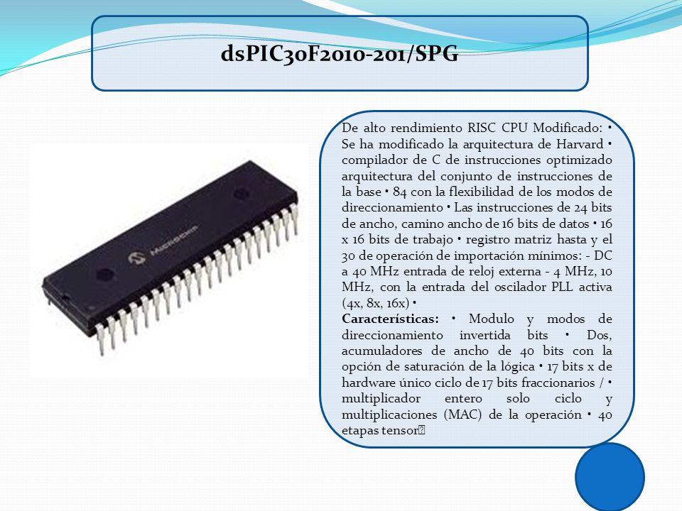 De alto rendimiento RISC CPU Modificado: Se ha modificado la arquitectura de Harvard compilador de C de instrucciones optimizado arquitectura del conj