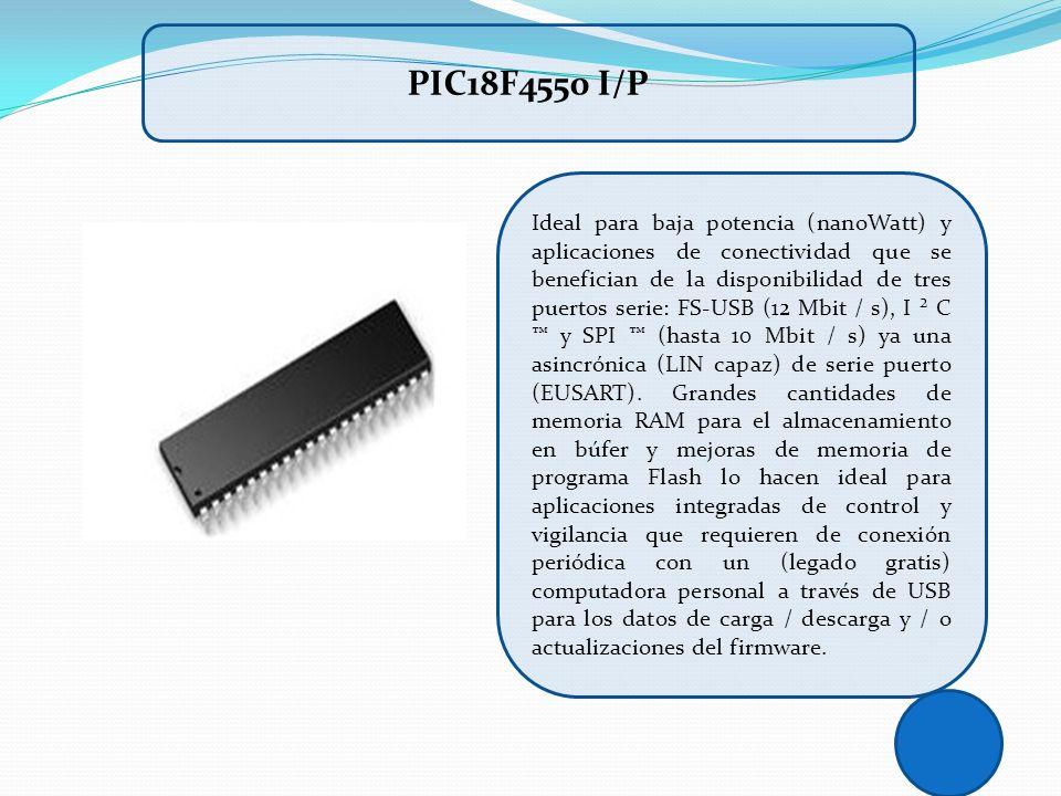 Ideal para baja potencia (nanoWatt) y aplicaciones de conectividad que se benefician de la disponibilidad de tres puertos serie: FS-USB (12 Mbit / s),