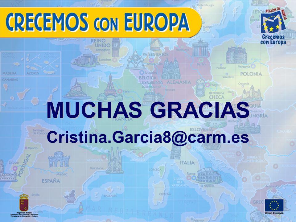 MUCHAS GRACIAS Cristina.Garcia8@carm.es