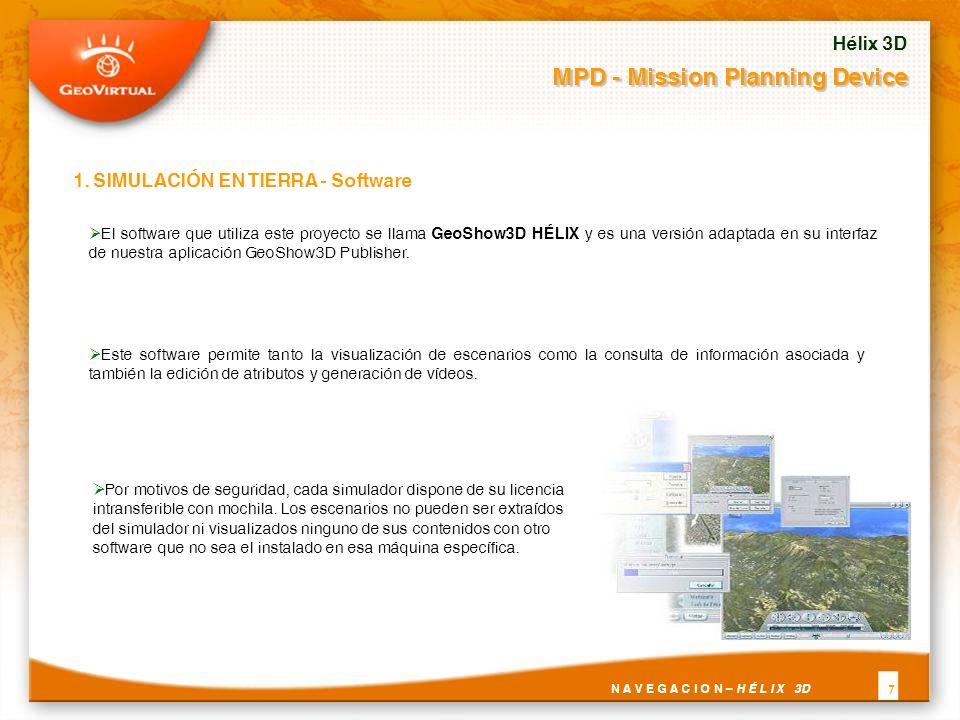 El software que utiliza este proyecto se llama GeoShow3D HÉLIX y es una versión adaptada en su interfaz de nuestra aplicación GeoShow3D Publisher.