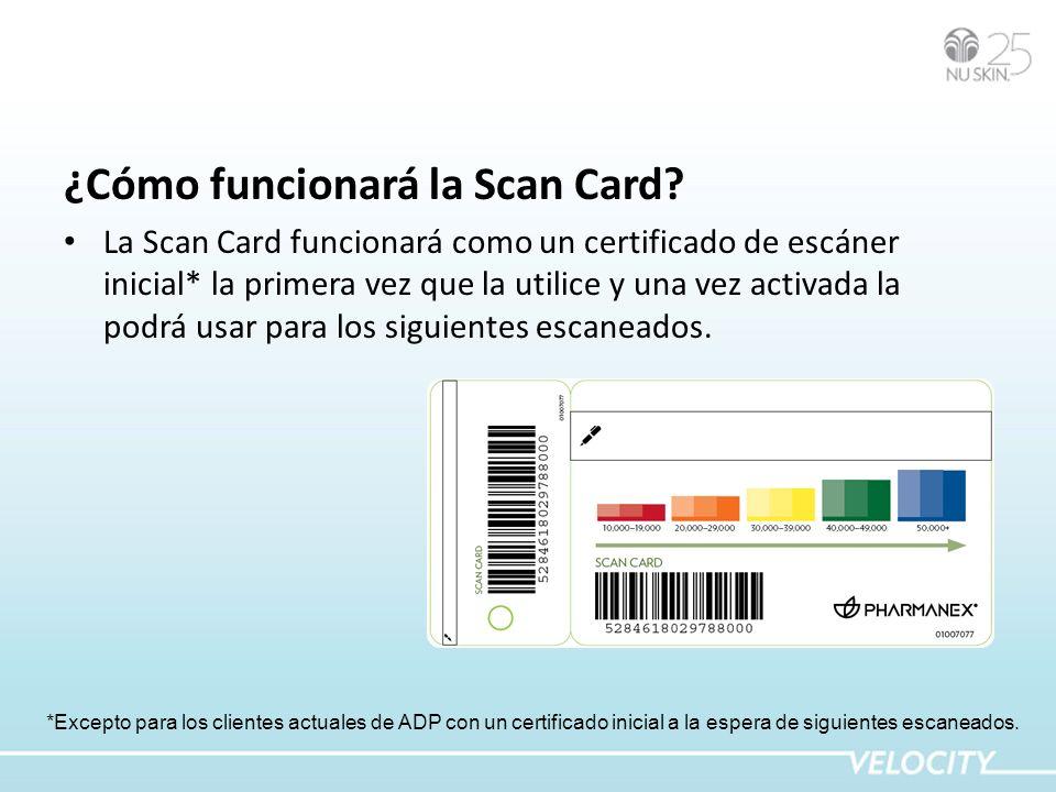 ¿Cómo funcionará la Scan Card.