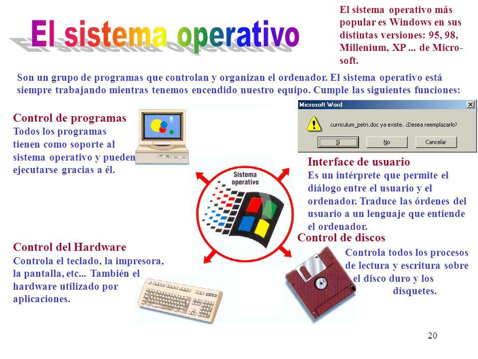 19 CONEXIONES Los puertos de entrada y salida, situados en la parte trasera del ordenador, facilitan la transferencia de datos desde o hacia el interior.