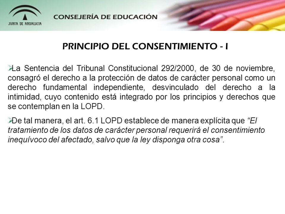 La Sentencia del Tribunal Constitucional 292/2000, de 30 de noviembre, consagró el derecho a la protección de datos de carácter personal como un derec