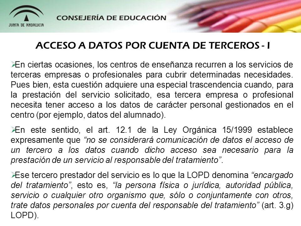 En ciertas ocasiones, los centros de enseñanza recurren a los servicios de terceras empresas o profesionales para cubrir determinadas necesidades. Pue