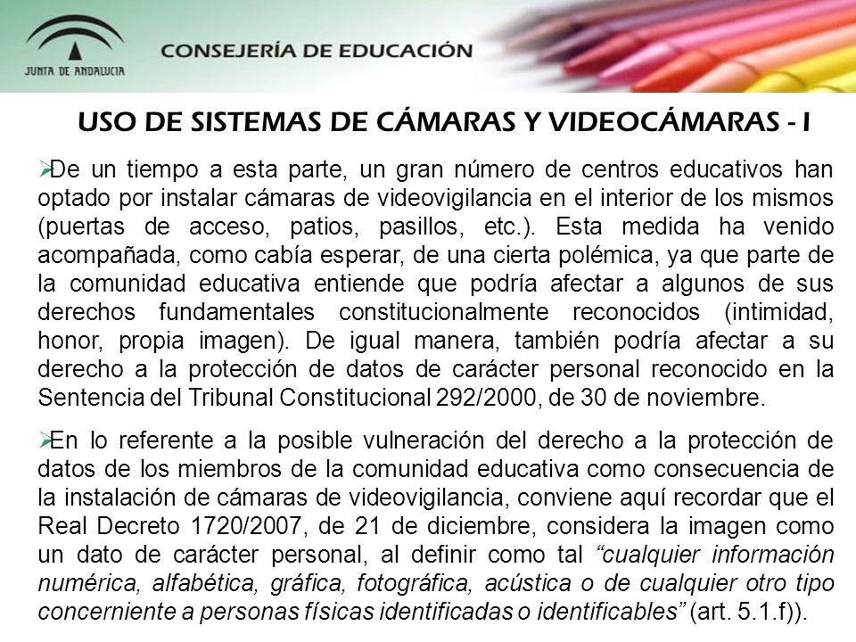 De un tiempo a esta parte, un gran número de centros educativos han optado por instalar cámaras de videovigilancia en el interior de los mismos (puert