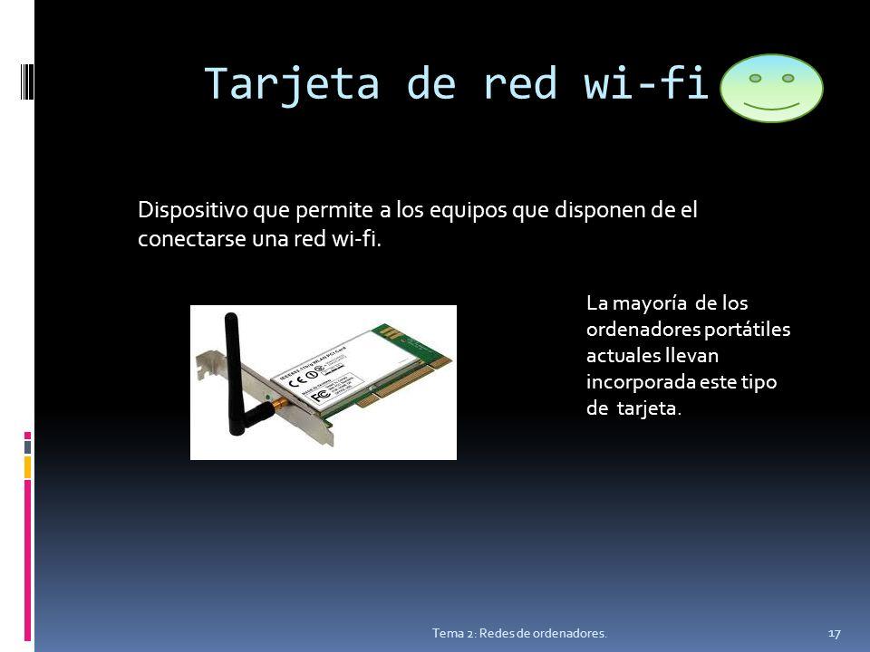 Tarjeta de red wi-fi Tema 2: Redes de ordenadores.