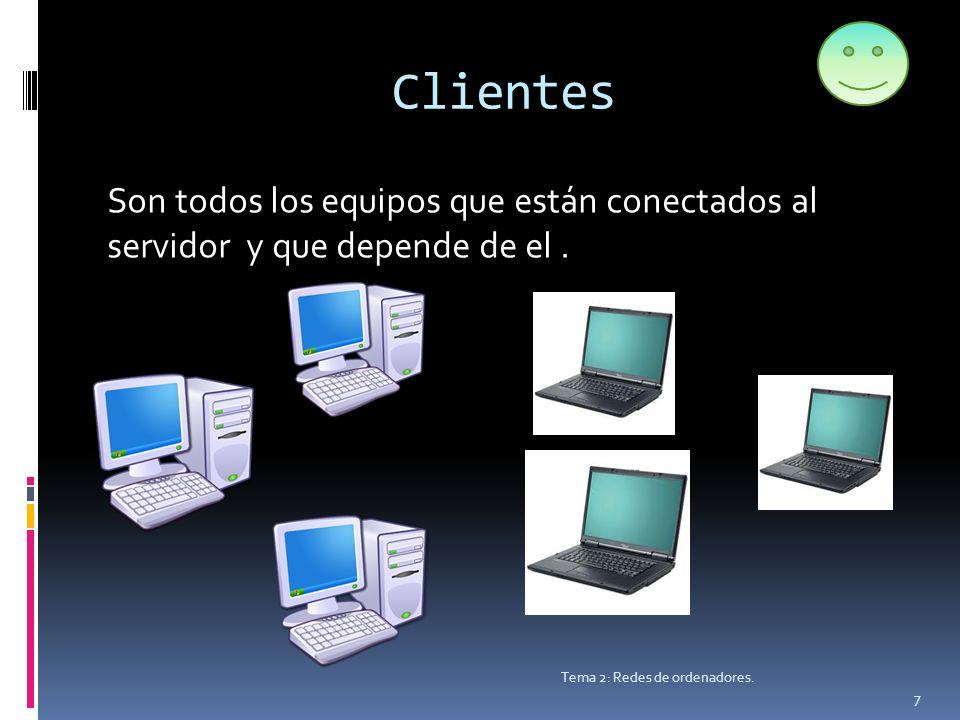 Clientes Tema 2: Redes de ordenadores.