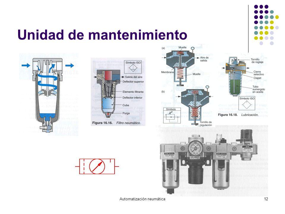Automatización neumática12 Unidad de mantenimiento