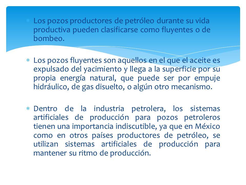 Los pozos productores de petróleo durante su vida productiva pueden clasificarse como fluyentes o de bombeo. Los pozos fluyentes son aquellos en el qu