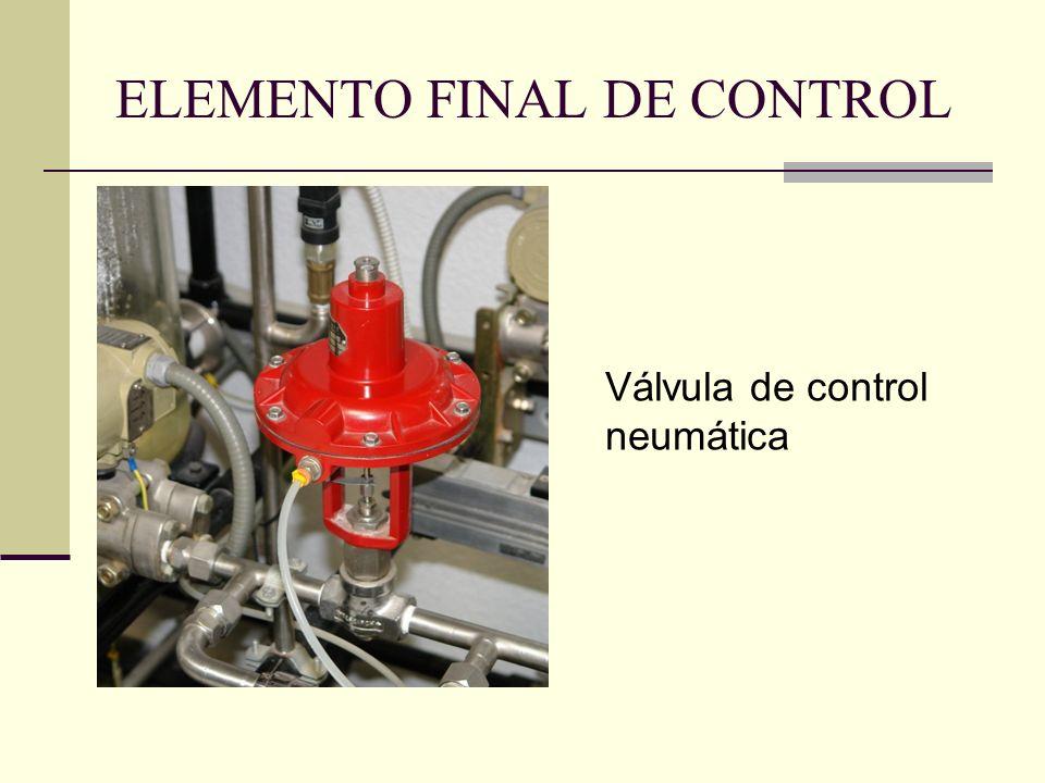 ELEMENTO FINAL DE CONTROL Válvula de control neumática