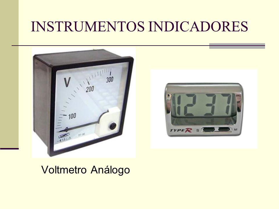 INSTRUMENTOS INDICADORES Voltmetro Análogo