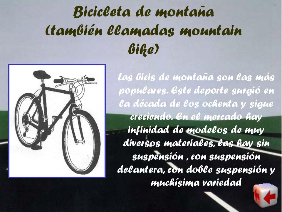 Bicicleta de trabajo Las bicicletas de trabajo se usan para realizar alguna labor como repartir periódicos, la correspondencia, etc.Generalmente son b
