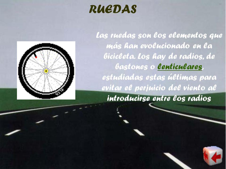 SILLÍN Elemento en el cual se sienta e ciclista. Los hay de muy diversos tipos, calidades y formas, siendo un elemento que necesariamente se ha de ada