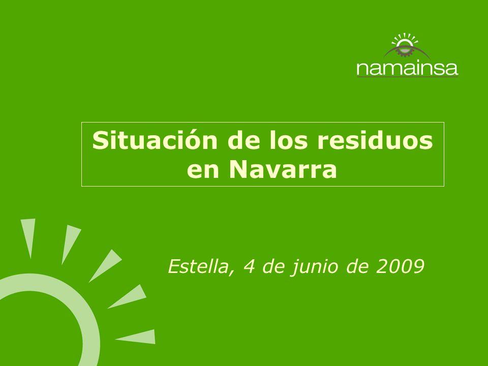 Situación de los residuos en Navarra Estella, 4 de junio de 2009