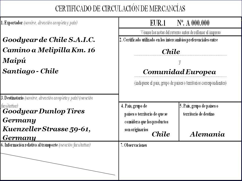 SOFOFA Goodyear de Chile S.A.I.C.Camino a Melipilla Km.