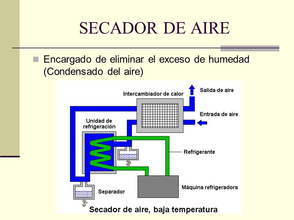 SECADOR DE AIRE Encargado de eliminar el exceso de humedad (Condensado del aire)