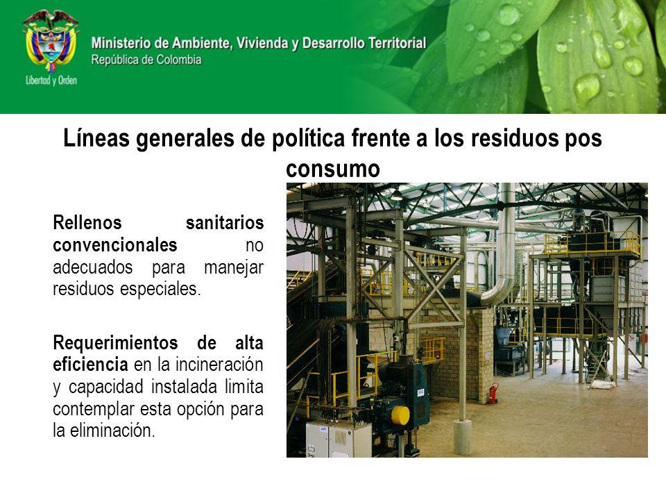 Rellenos sanitarios convencionales no adecuados para manejar residuos especiales. Requerimientos de alta eficiencia en la incineración y capacidad ins