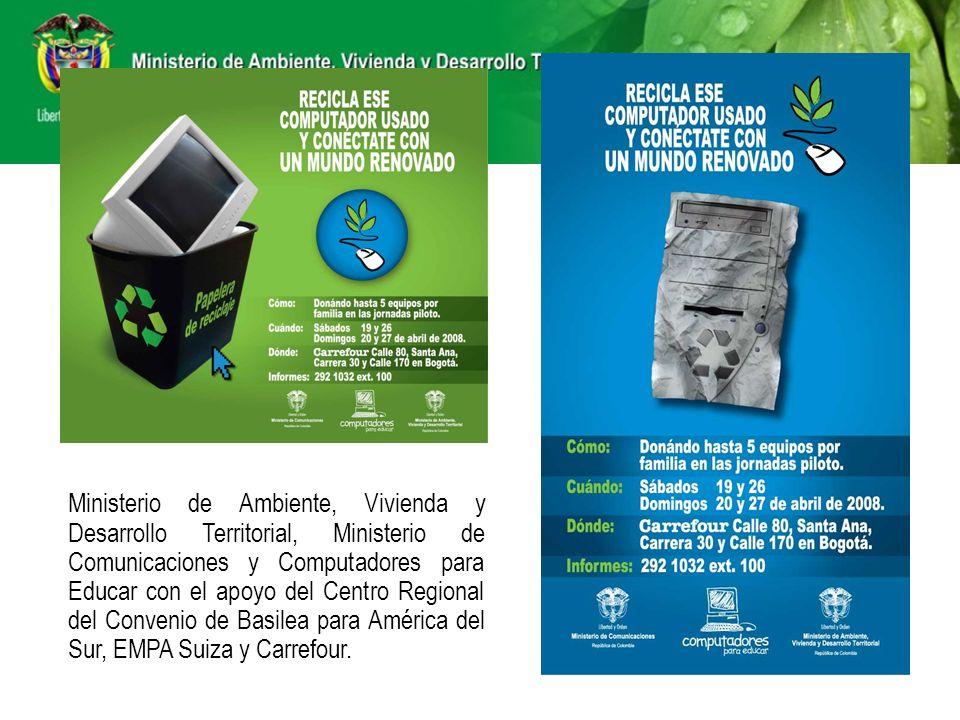 Ministerio de Ambiente, Vivienda y Desarrollo Territorial, Ministerio de Comunicaciones y Computadores para Educar con el apoyo del Centro Regional de