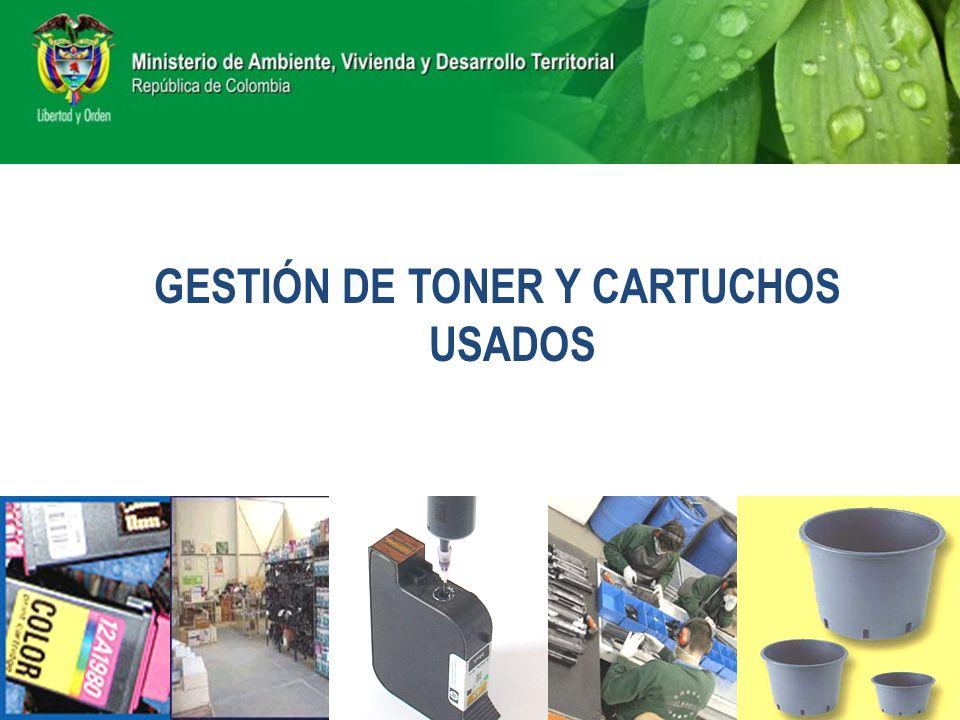 GESTIÓN DE TONER Y CARTUCHOS USADOS