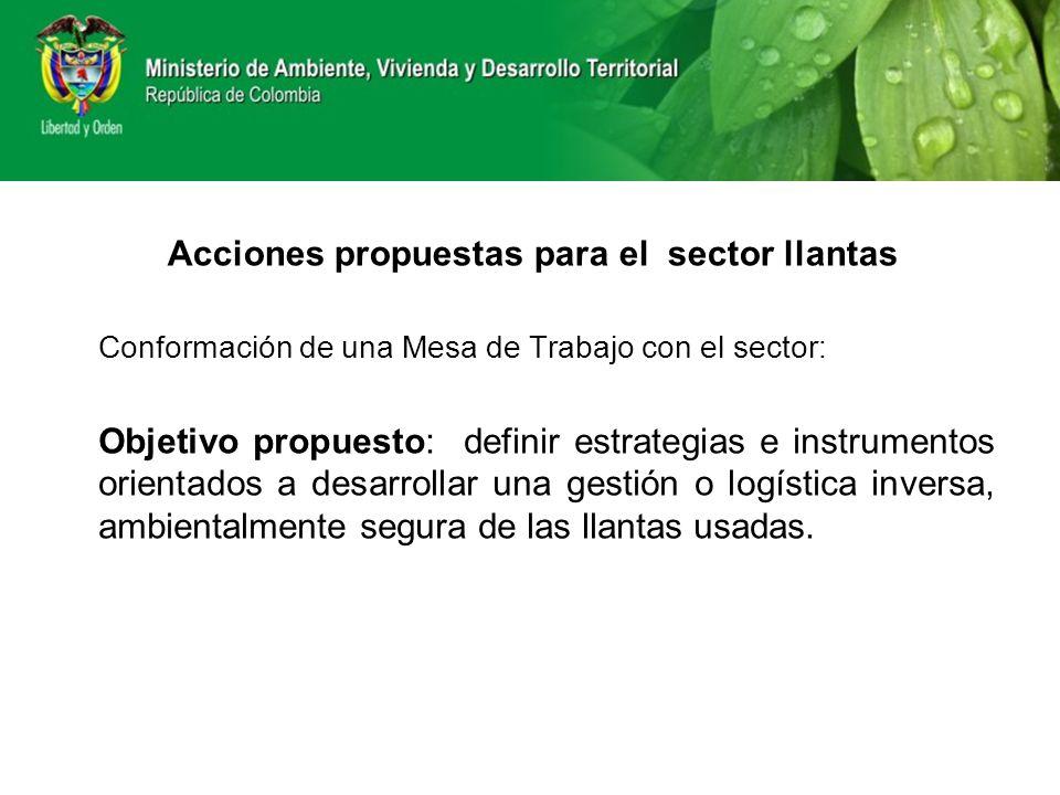 Conformación de una Mesa de Trabajo con el sector: Objetivo propuesto: definir estrategias e instrumentos orientados a desarrollar una gestión o logís